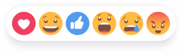 Facebook interactions buttons